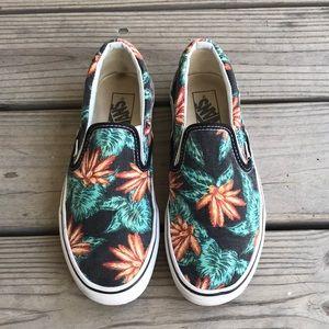 Tropical Print Slip-On Vans